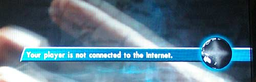Ticker message when no Internet connectivity