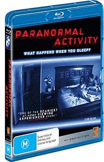 Paranormal Activity Blu-ray packaging