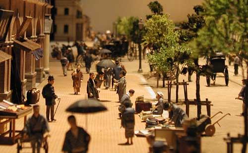 Japanese miniature street scene