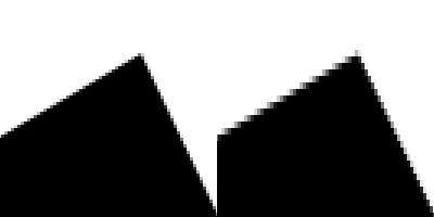 Original graphic left, processed one right