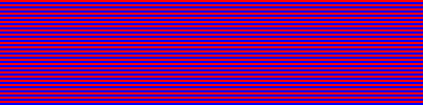 Expanded detail of red/blue test pattern