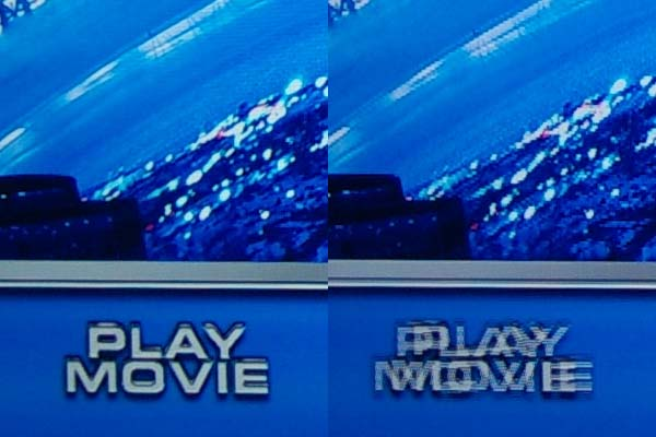 The menu on Cats and Dogs 2, 3D. In 2D mode left, 3D right