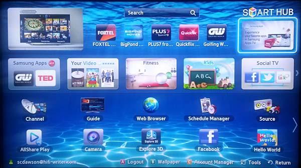 2012 Samsung 55ES8000 sans Evolution module